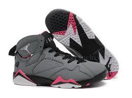 Splendent Girls Air Jordan 7 Gs Valentines Day Vendors Grey Black Pink Dark White Nike