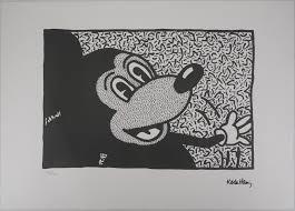 mickey mouse silkscreen reprint by keith haring