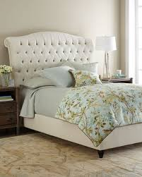 Blue Velvet King Headboard by Haute House Harper Tufted Ivory Velvet Bed