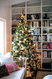 Homemade Christmas Tree Decorations Martha Stewart Lit With Gold And Silver Ornaments Its Beginning To Look