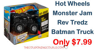100 Monster Truck Batman Hot Wheels Jam Rev Tredz Only 799