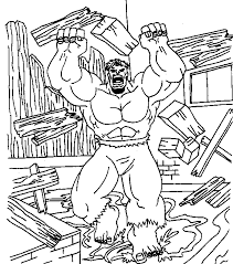 The Hulk Coloring Pages For Kids