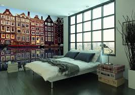 amsterdam houses reflection wall mural by fotolia wallsauce