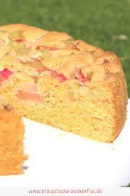 low carb rhabarberkuchen mit nur 5 zutaten