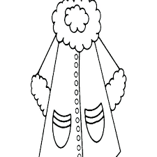 Winter Clothes Coloring Pages Fashion Printable Me Coat For Women In Clothing Page Wear Sheets
