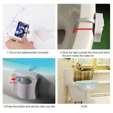 nachtlichter 8 16 led badezimmer toilette nachtlicht motion
