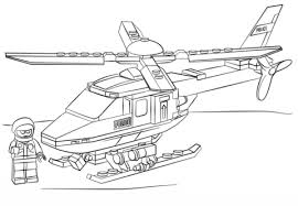 Click To See Printable Version Of Lego Police Helicopter Coloring Page
