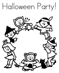 Halloween Coloring Page Party