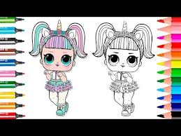 NEW Unicorn LOL Surprise Doll How To Draw Coloring Page Series 3