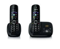 benear téléphone fixe sans fil avec répondeur cd6852b be philips