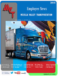 100 Mvt Trucking MVT Newsletter MarchApril 2015 By MVT Services Issuu