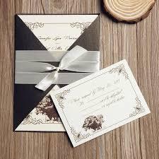 Neutral Rustic Vintage Affordable Pocket Wedding Invitation EWPI106