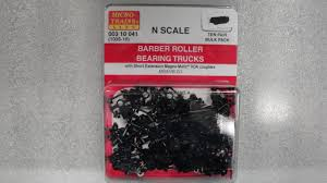 99 N Scale Trucks 310041 MICRO TRAIS 003 10 041 BARBER ROLLER BEARIG TRUCKS