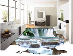 3d pvc bodenbelag kundenspezifisches foto schlafzimmer wasserdicht boden die wasserfall fluss malerei 3d wandbilder wallpaper für wohnzimmer