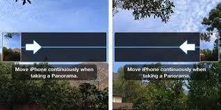 iOS 6 Trick How To Take Panoramas In Either Direction