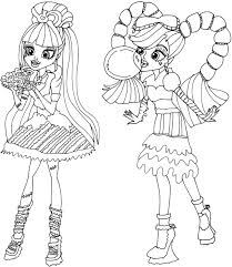 Free Printable Monster High Coloring Pages Sweet Screams Page