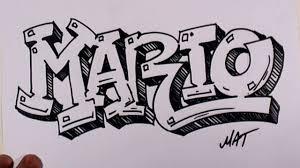 3D Graffiti Word Art Drawings Writing Mario Name Design 38 In 50 Names Promotion