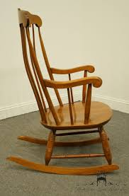 High End Used Furniture | NICHOLS & STONE Traditional Colonial Style ... An Early 20th Century American Colonial Carved Rocking Chair H Antique Hitchcock Style Childs Black Bow Back Windsor Rocking Chair Dated C 1937 Dimeions Overall 355 X Vintage Handmade Solid Maple S Bent Bros Etsy Cuban Favorite Inside A Colonial House Stock Photo Java Swivel With Cushion Natural 19th Century British Recling For Sale At 1stdibs Wood Leather Royal Novica Wooden Chairs Image Of Outdoors Old White On A Porch With Columns Rocker 27 Kids