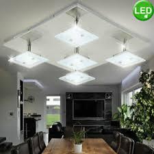 details zu design led decken le wohn zimmer spot glas strahler beleuchtung beweglich
