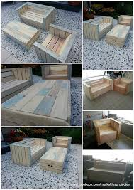 Outdoor Furniture Made With Pallets Pallets Round Patio Table