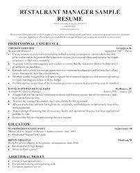 Restaurant Serving Resume Examples Server Resumes Fast Food Sample With