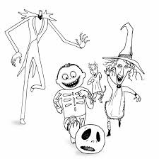 Free Nightmare Before Christmas Coloring Pages Printables
