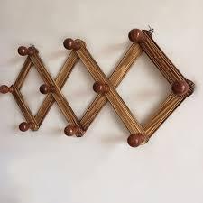 10 haken retractable hanger rack dekorative wandregal bad küche veranstalter holz kleiderhaken für hänge