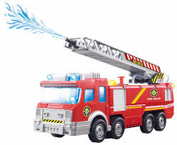 100 Fire Truck Sirens ToyZe With Water Pump And Extending Ladder With Flashing