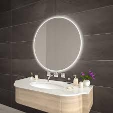 runder spiegel mit rundum beleuchtung helena
