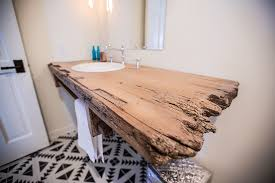 Reclaimed Wood Floating Bathroom Shelf