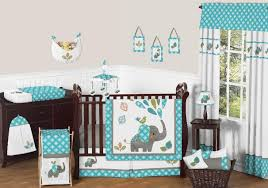 sweet jojo designs mod elephant collection 11 piece crib bedding