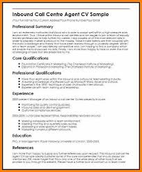 Inbound Call Center Agent Resume Samplescall Rep Sample Format For Job Outbound