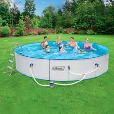 Coleman 15 X 36 Steel Wall Fast Set Above Ground Swimming Pool
