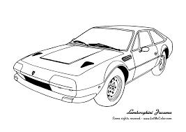 Cars Coloring Page Lamborghini Jarama