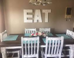 Large EAT Sign 18 24 Wood Letters Kitchen Decor Wooden