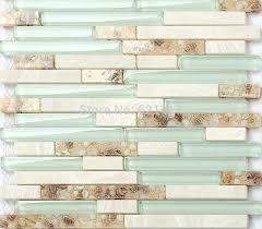 light blue glass shell mosaic tiles hmgm1111