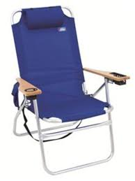 Rio Gear Backpack Chair Blue by Aloha Big Shot Beach Chair