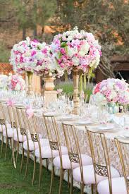 Pink And Gold Outdoor Wedding Chairs