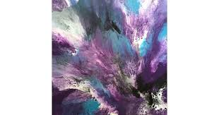 ORIGINAL ABSTRACT ART PAINTING ON STRETCHED CANVAS ROCK MY WORLD TURQUOISE PURPLE BLACK WHITE By Debra Ryan Paintings For Sale Bluethumb