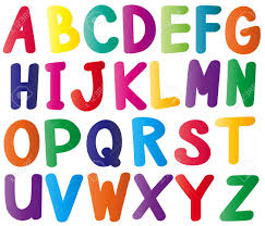 English Alphabets In Many Colors Illustration Royalty Free Cliparts