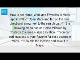 How Do You Change Your Home Location Iphone Maps