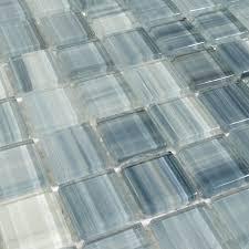 blue glass mosaic tile backsplash watercolor mesh mounted glass