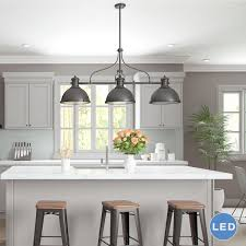 3 light pendant island kitchen lighting home design