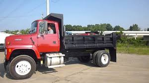 1995 Ford L9000 Single Axle Dump Truck - YouTube