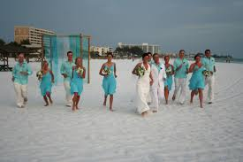 Beach Blue Wedding Ceremony