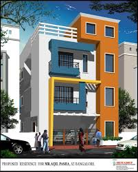 Beautiful Elevation For A Three Storey House - GharExpert ... Good Plan Of Exterior House Design With Lush Paint Color Also Iron Unique 90 3 Storey Plans Decorating Of Apartments Level House Designs Emejing Three Home Story And Elevation 2670 Sq Ft Home Appliance Baby Nursery Small Three Story Plans Houseplans Com Download Adhome Triple Modern Two Double Designs Indian Style Appealing In The Philippines 62 For Homes Skillful Small Storeyse