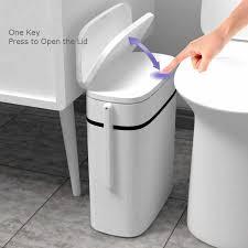 14l smart mülleimer badezimmer null abfall bin ein schlüssel
