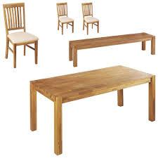 essgruppe royal oak 90x180 3 stühle 1 bank