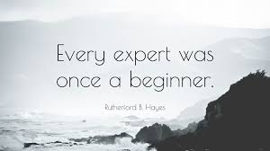 Rutherford B Hayes Quote Every Expert Was Once A Beginner