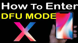 Entering DFU mode iPhone X Tips How to Put iPhone 10 into DFU